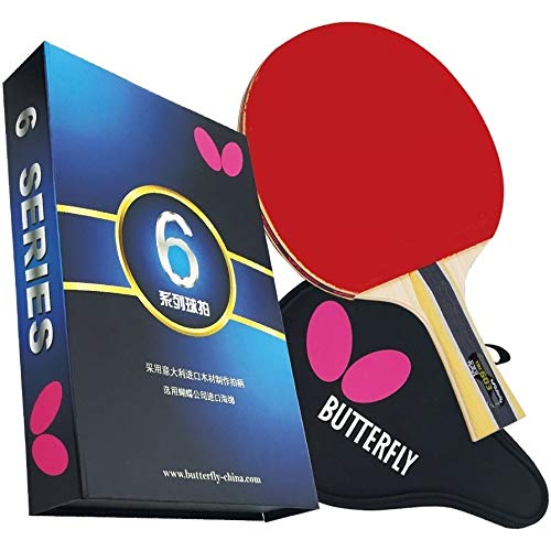 New 603 Table Tennis Racket Set with Ping Pong Paddle Case - Gift Box Ittf Approved Red