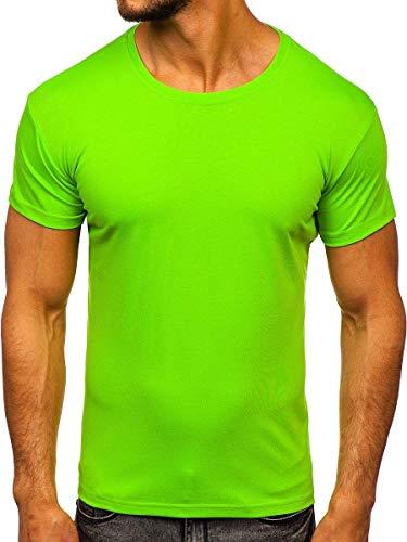 BOLF Hombre Camiseta Básica de Manga Corta Camiseta de Algodón Escote Redondo Estilo Diario 3C3