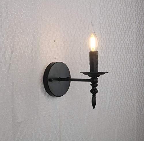 Zi Yang Clásico Americano lámpara de Pared Hierro Industrial Apliques de Pared 1 Llama para estudiar Hotel Desván Sala de Estar Cuarto Lámpara de Noche 1 x Enchufe E27 luz de Pared MAX. 40 W Negro