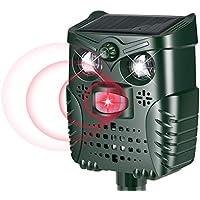 PewinGo Repelente De Gatos,Ahuyentador Repelente Ultrasónico Para Animales,LED,Carga Solar y USB, Exterior, Detector de Gatos,Perros,Ratones etc
