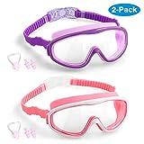 Vetoo 2-PACK Kids Swimming Goggles Junior Children Girls Boys Early Teens Age 3-15