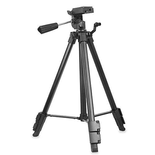 NEU: Kingjoy Video-Stativ Kit VT-910 aus Aluminium mit Videokopf/Fluidneiger und integriertem Smartphone-Halter im Griff – 145,8cm - 1,15kg, Packmaß 54,6cm, Tragkraft 5kg mit Stativspinne