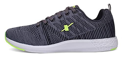 4. Sparx Men Grey Fluorescent Green Running Shoes