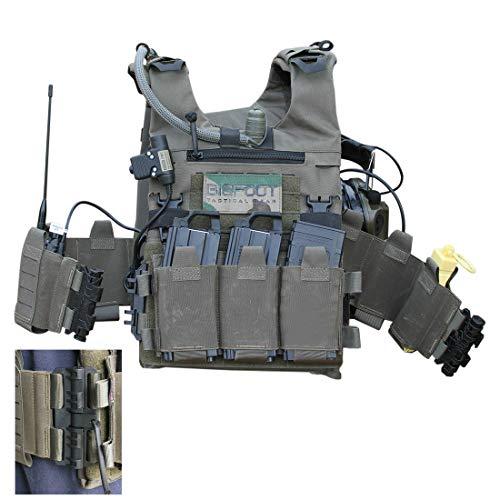 GODNECE Tactisch Vest Molle System Vest Militair Tactical Molle Vest voor jacht CS Paintball Airsoft Outdoor kabel versie zonder spoel trekken 1
