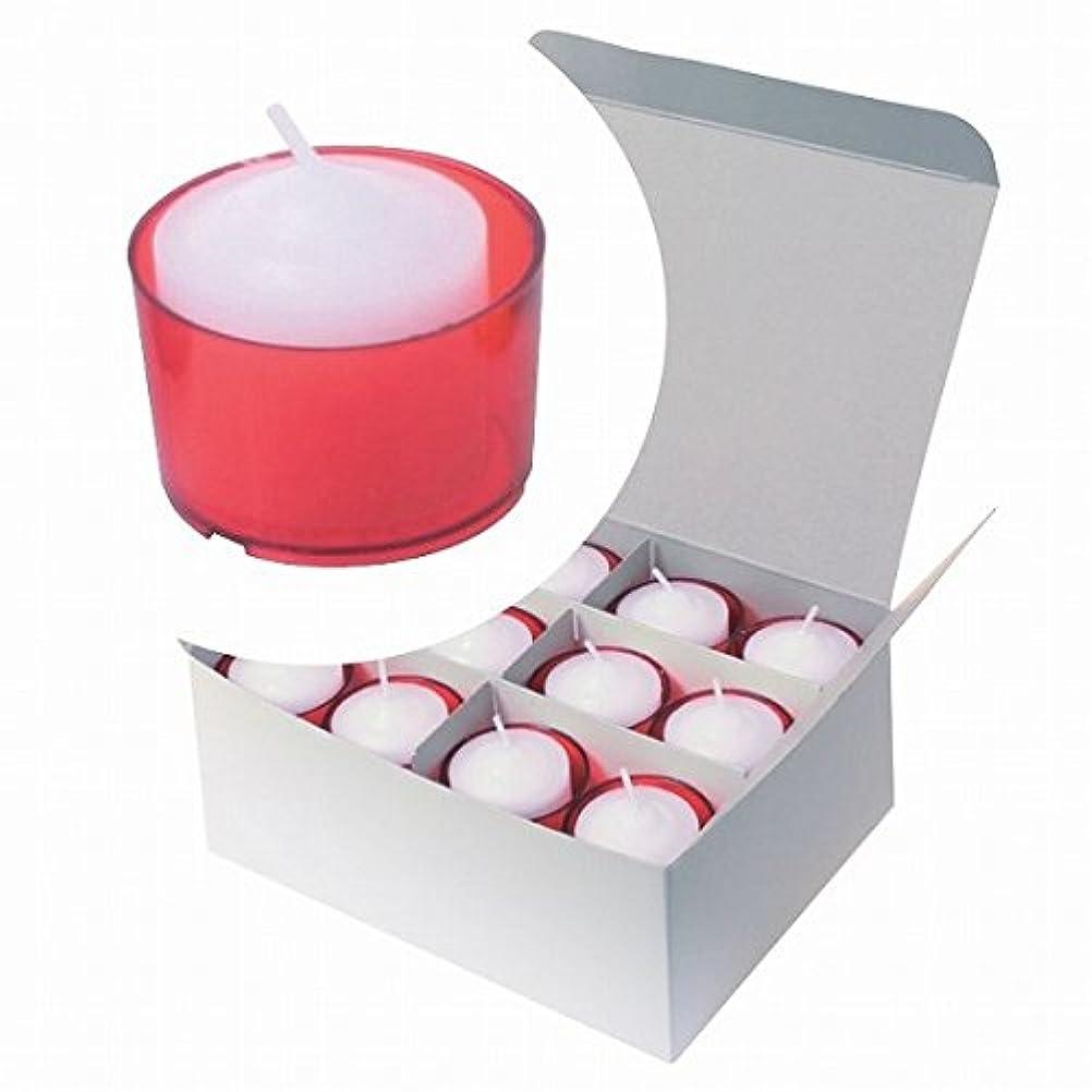 特殊ワーム岸カメヤマキャンドル( kameyama candle ) カラークリアカップボーティブ6時間タイプ 24個入り 「 レッド 」