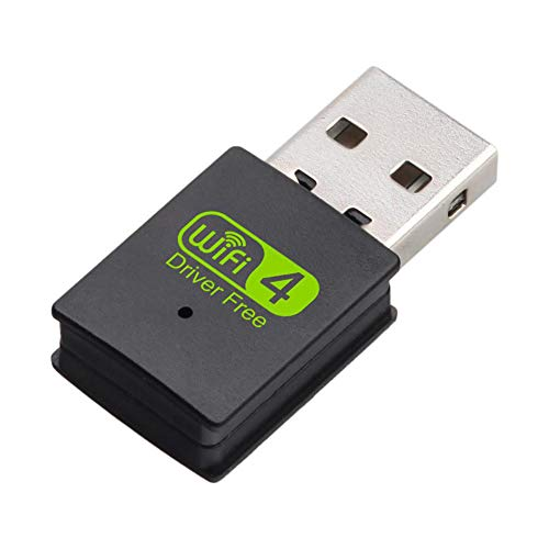 Lcme 300Mbps Wireless-LAN-Adapter, USB-Bluetooth-Adapter Wireless Receiver-Netzwerkkarte USB-Wireless-LAN-Transmitter Mini Streaming-Signal-Empfänger Für Desktop-Windows XP/Mac