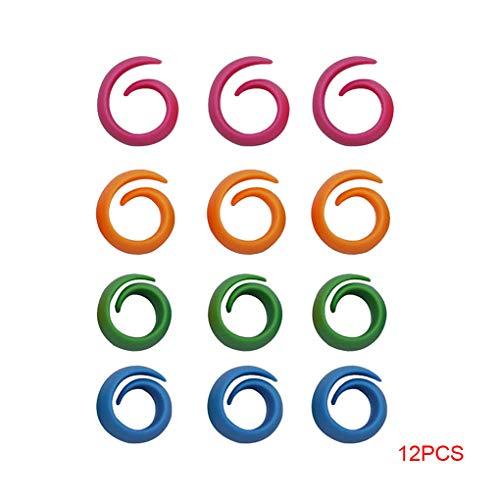 Topker 12PCS / Set zufällige Farbe Silikon Bobbin Klammern Halter Gewindewerkzeug, Garnrolle Huggers Halte Savers Werkzeuge Zu