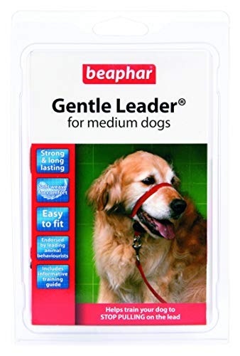 Beaphar Gentle Leader - Licol pour Chien - Taille M - Rouge