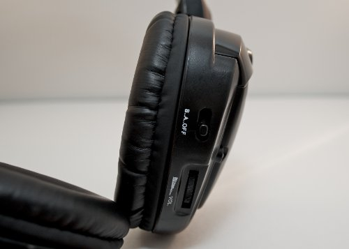 Wireless DVD Headphones for Nissan Rogue (Black, 1 Headset)