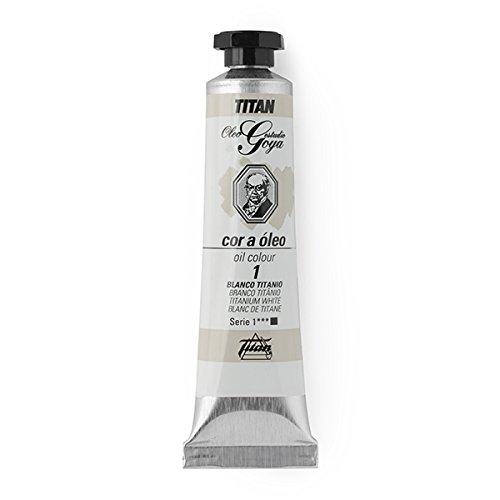 Colores Blancos Óleo Goya Titan - Tubo 6 - 20 mL, 1-Blanco Titanio