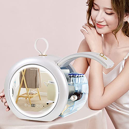 DCLINA 6L Maquillaje Nevera con Espejo LED,Mini Refrigerador del Refrigerador/For Cosméticos para Maquillaje Y Cuidado La Piel, Casa Bar