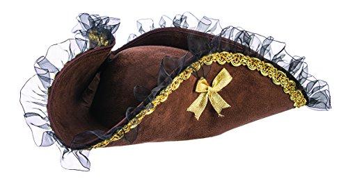 Forum Novelties Womens Brown Tricorner Tricorn Pirate Hat Costume Accessory