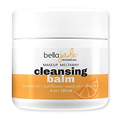 Cleansing Balm Makeup Remover for Face – Natural Vegan Facial Cleanser with Coconut Oil and Vitamin E to Gently Cleanse and Nourish Skin