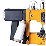 Hanchen Mini Bag Closing Machine 2s/bag Portable Bag Closer 2.9KG Electric Bag Sewing Machine Automatic Woven Bag Sewer Packing Machine for Burlap PP Woven Kraft Paper Bag with CE Certificate (110v)