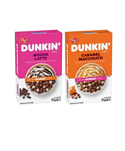 Dunkin' Cereal, Mocha Latte and Caramel Macchiato with Hint of Chocolate and Caramel   Naturally...
