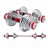 XUANLAN Hantel Herren Fitness Set All-Eisen überzog Barbell Einstellbare Gewicht Hantel + 35cm Rod...