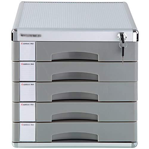 Archivadores Archivadores fuerte resistencia colisión confidencial de almacenamiento necesidades de la organización escritorios estándar de aleación de aluminio, MDF (29.8X30.6X35.8CM) Caja de archivo