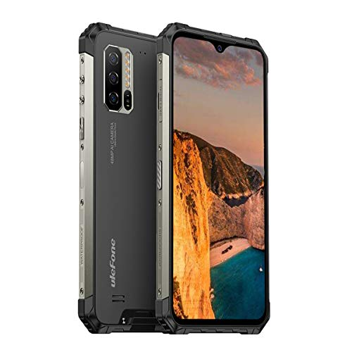 Ulefone Armor 7 Outdoor Smartphone ohne Vertrag, Helio P90 Octa Core 8GB RAM + 128GB ROM, 48 MP Kamera, 6,3-Zoll-FHD+, Android 9.0 IP68 Wasserdicht Handy, 5500 mAh-Akku, Qi Drahtlose Ladung, NFC