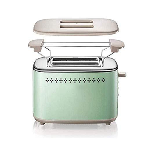 SJYDQ Tostadora Tostadora Casa Desayuno 2 rebanadas de Pan Tostado tostadora Completamente automática,Frito Antiadherente Bandeja Inferior,fácil de Limpiar
