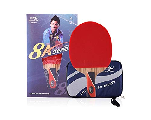 Find Bargain HUIJUNWENTI Table Tennis Racket, Pen-Hold, Horizontal Shooting, Double-Sided Anti-Stick...