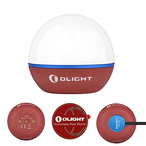 Olight Obulb 55 Lumens 4-Modes Rechargeable Easy Carry Multipurpose ORB Night Light with Magnetic...