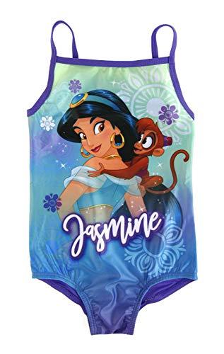 Disney - costume da bagno, per bambina, con disegno di Lora, Dora Aladino – gelsomino. 4-5 Anni