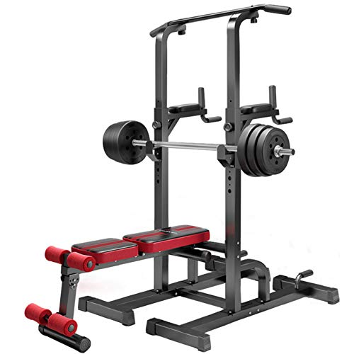 ZYQDRZ Heavy-Duty Multifunctional Power Tower, Pull-Lift Belt Platform Bench Press, Strength Training Fitness Exercise Equipment, Used for Home Gym Strength Training