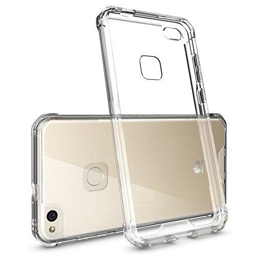 REY Funda Anti-Shock Gel Transparente para Huawei P9 Lite, Ultra Fina 0,33mm, Esquinas Reforzadas, Silicona TPU de Alta Resistencia y Flexibilidad, Antigolpes