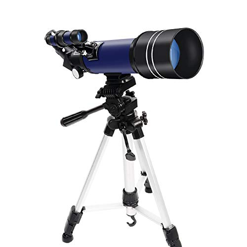 Telescope,70mm HD Refractor Telescopes with Adjustable Tripod Photo Shutter and Moon Filter for Telescope for Adults and Kids