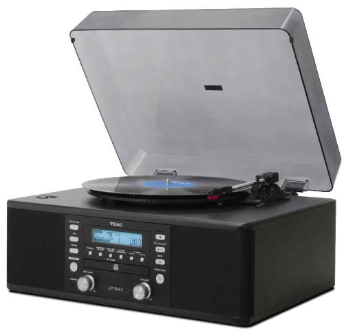 TEAC LP-R500A-B Vinyl Radio with Cassette/CD Recorder - Black