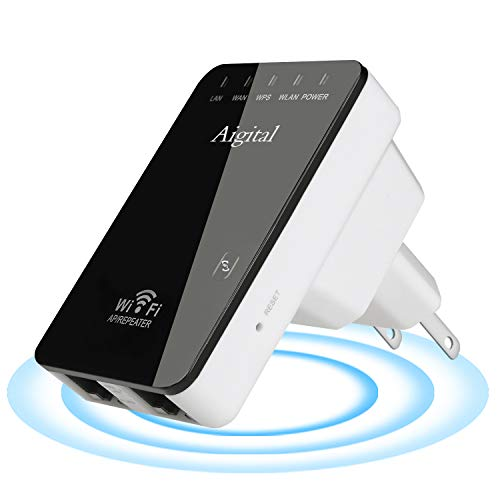 Upgraded WiFi Extender Superboost Long Range Signal Booster 2.4GHz Wireless Repeater - Covers Up to 1200 Sq.ft and 20 Devices Up to 300Mbps Access Point/Router/Repeater Mode, 360° Coverage, Easy Setup