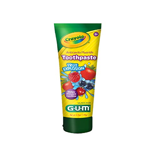Gum Crayola Fruit Explosion Flavor Toothpaste 4.2 Ounce - Pack of 2