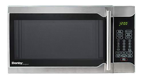 Danby DMW07A2BSSDD-6 0.7 Cu.Ft. Countertop Microwave, Black Stainless Steel