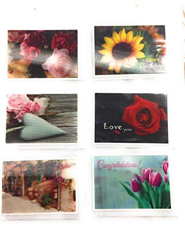 Depesche 6er Set 3D Postkarten Postkarten