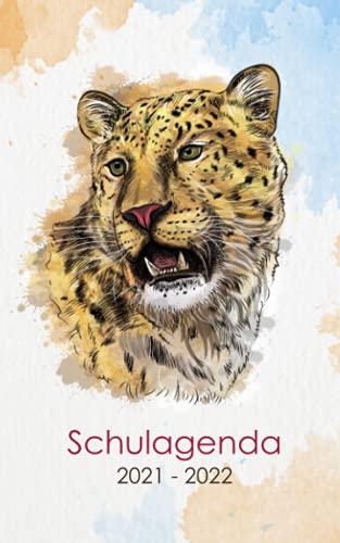 Schulagenda 2021 - 2022: Studentenplaner Leopard für die Schule, Universität, oder Ausbildung   Täglich und wöchentlich September 2021 bis Juli 2022  260 Organisationsseiten 1 Tag pro Seite