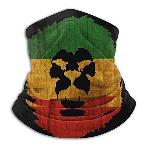 LKZYF Rasta Lion Reggae Music Love - Braga de microfibra para el cuello, color negro