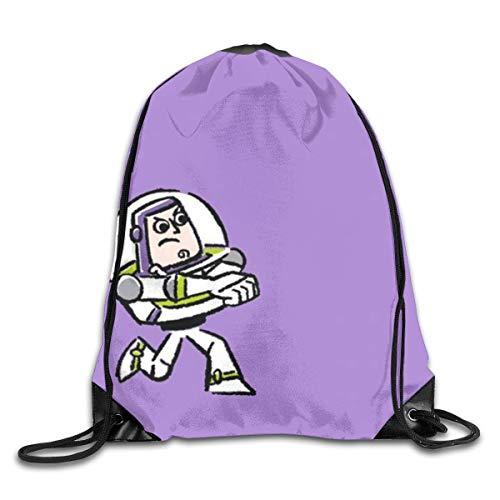 xiameng Buzz Lightyear Drawstring Bag Print Shoulder Bags Sackpack Sport Gym Backpack Storage Bag