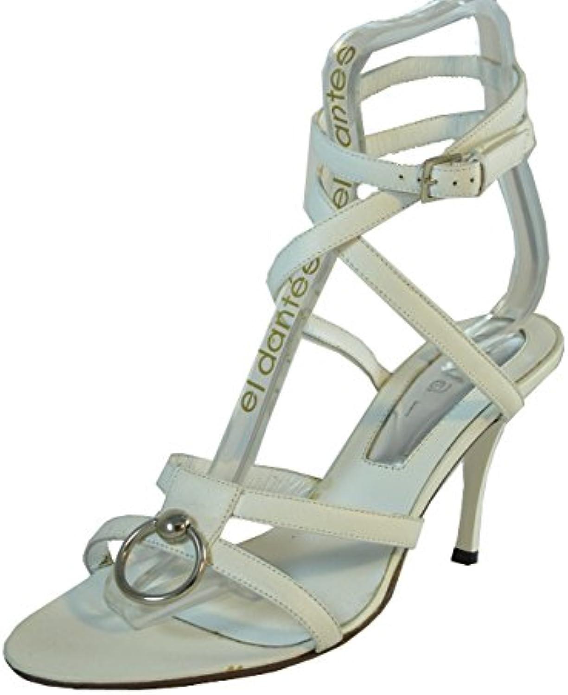 Dyva Designer 19950 Women's Italian Leather Strapy Mid Heel Sandal