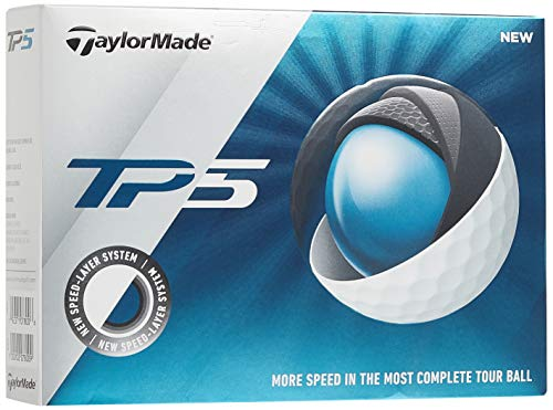 TaylorMade TP5 Golf Balls (One Dozen), White, Large