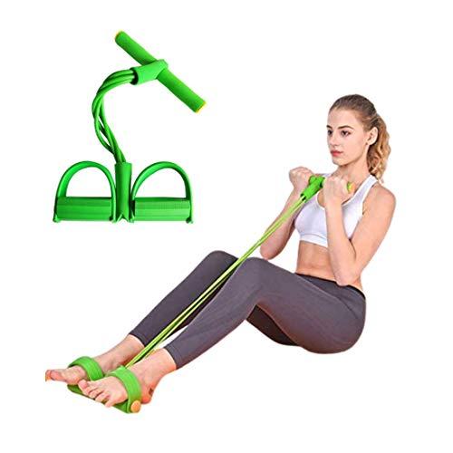 Ducomi Fascia di Resistenza - Corda Elastica Multifunzionale per Allenamento Addominali Gambe Glutei a Casa o in Palestra con Manubri, Fitness, Ginnastica, Yoga - Pull Rope Pedal (Green)