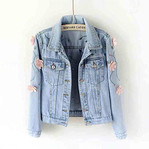 NSWTKL jeansjack, bloem, denim, herfst, vrouwen, modieus, borduurwerk, bomberjack