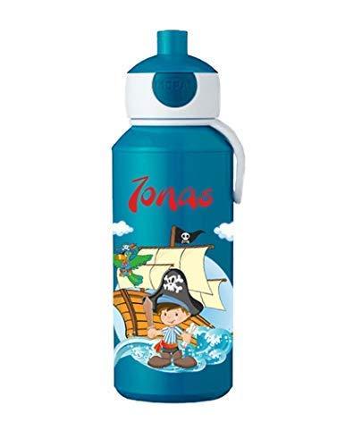 Mijn Zwergenland drinkfles Mepal Campus pop-up met naam blauw Piraat
