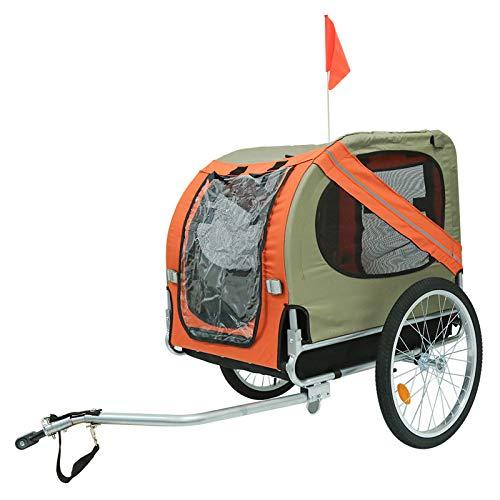 TureFans Remolque de Bicicleta para Perros, Remolque Bici Perro, Paño Oxford Impermeable, Carga máxima 40 KG, Plegable, 73 * 90 * 137 cm (QP225385_02)