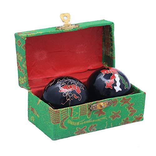 HEALIFTY - Palline da baoding cinesi, per esercizi, massaggi, sfere per le mani, per alleviare i dolori, terapeutiche, 2 pezzi