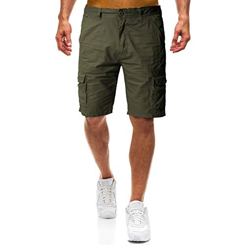 Männer Casual Pure Color Outdoor Pocket Cargo Shortssommer neu Arbeitshose