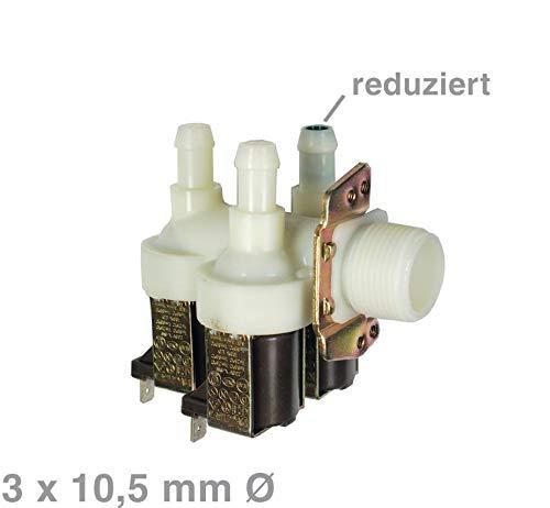 Ventil Magnetventil für Waschmaschine Miele 3-fach 90° Ø 10,5 mm 1678013