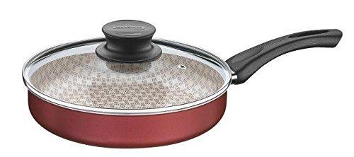 Frigideira Reta de Alumínio com Revestimento Interno de Antiaderente Tramontina Vermelho 24Cm