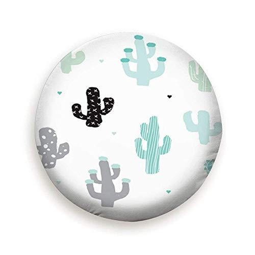 N\A Cubierta de neumático de Rueda de Repuesto Abstracta de Bosque de Cactus Azul Menta Suave Impermeable a Prueba de Polvo Universal para Jeep, Remolque, RV, SUV y Muchos vehículos