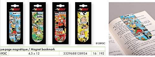 Clairefontaine 812893C Astérix Comics - Marcapáginas magnéticas, 4 colores aleatorios