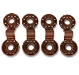 SHANS Shade Cloth Fabric Clips 20-Count (Brown)